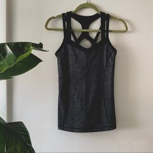 ✨ Zella Top Activewear Yoga Gray & Black XS